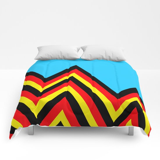 Black And Red And Yellow......And Blue Comforters