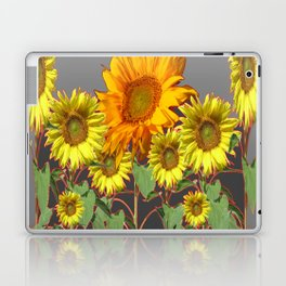 SUNFLOWER FIELD in CHARCOAL GREYS Laptop & iPad Skin