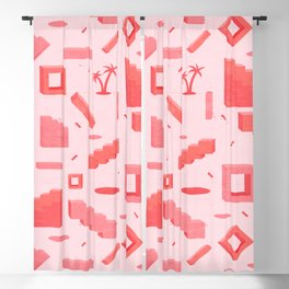 Memphis Mood in Coral Blackout Curtain