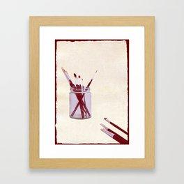 Blank Canvas | Red Framed Art Print