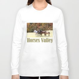 Horses Valley Long Sleeve T-shirt
