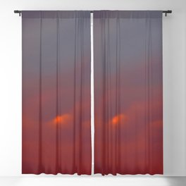 Red cloud shining at sunset Blackout Curtain