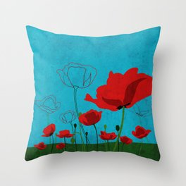 Flowers: Poppy Throw Pillow