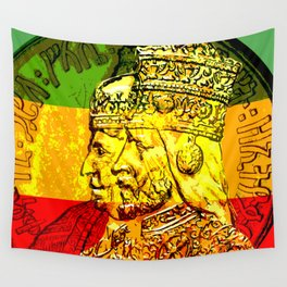 Haile Selassie Empress Menen Rasta Royalty Wall Tapestry
