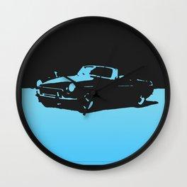 MGB, Light Blue on Black Wall Clock