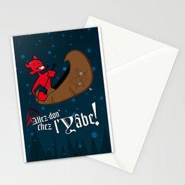 Allez-don' chaz l'yâbe! Stationery Cards