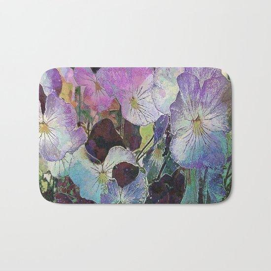 Pansies Purple Bath Mat