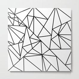 Black white modern abstract geometrical pattern Metal Print