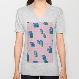 Grid & Tetris Unisex V-Neck