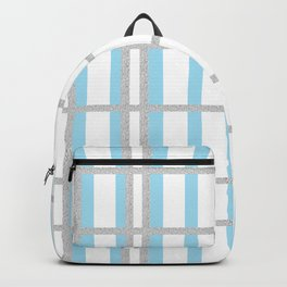 Blue Gray Lines Backpack