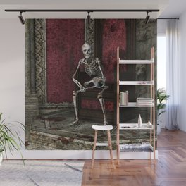 Gothic Waiting Skeleton Wall Mural