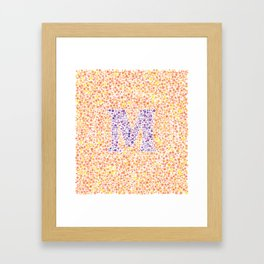 """M"" Eye Test Full Framed Art Print"