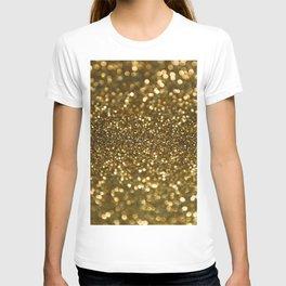 Gold Sparkle Pattern T-shirt