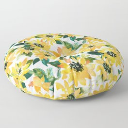 SUNFLOWER POWER Yellow Floral Floor Pillow