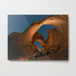Double Arch Trail Area In Arches National Park Metal Print