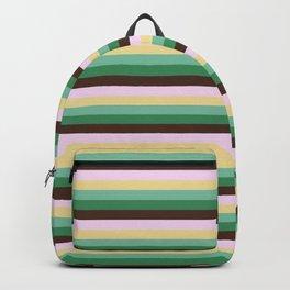 Earth Tones Skinny STRIPES Backpack