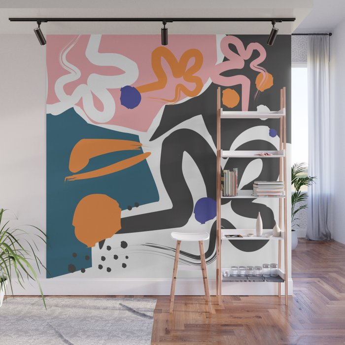 Nature #Pink #Black Wall Mural
