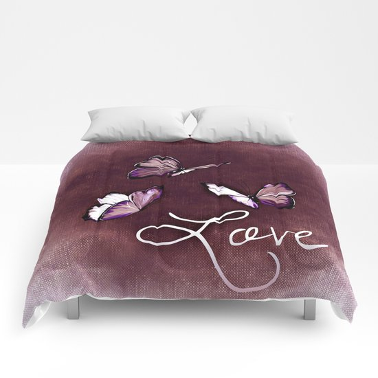 Butterfly Love Comforters