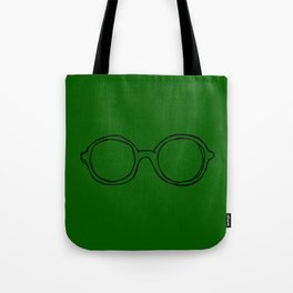 Round Pink Glasses Tote Bag
