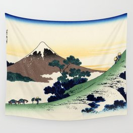 """Hokusai (1760-1849)  """"Inume Pass"""" Wall Tapestry"""