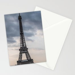 Eiffel Tower Paris Clouds Stationery Cards