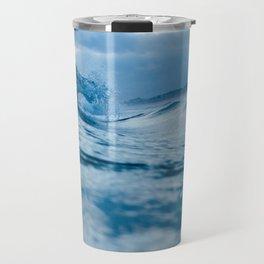 Blue Sea and Waves Travel Mug