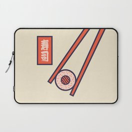 Sushi Minimal Japanese Food Chopsticks - Cream Laptop Sleeve