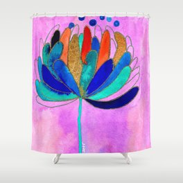 Release - Original Watercolour and Ink Painting from the Garden Shower Curtain