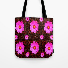 FUCHSIA PINK FLOWERS &  DARK ART Tote Bag
