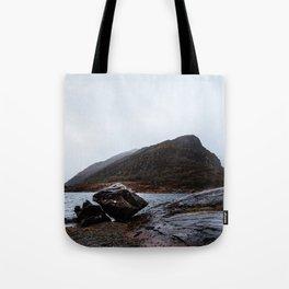 View of lake against mountian in Killarney Tote Bag