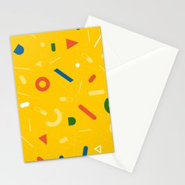 Almost Friday - pattern yellow Stationery Cards