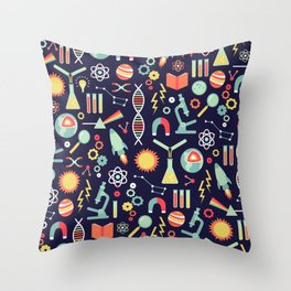 Science Studies Throw Pillow