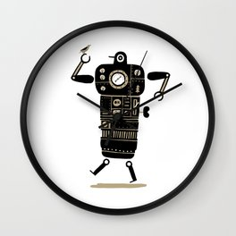 Robot with Bird Wall Clock