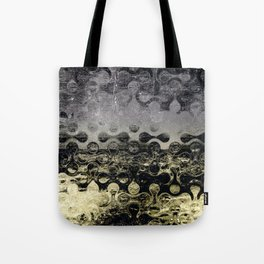 Distressed Silver Gold Multi Pattern Abstract Tote Bag