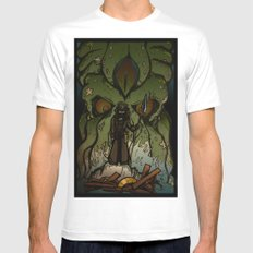 Ktulu Rises Mens Fitted Tee White MEDIUM