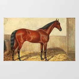 Vintage Stabled Horse Illustration (1905) Rug