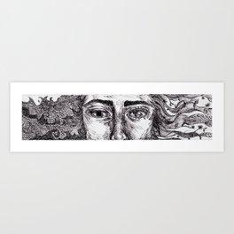 Dryad and Niad Hybrid  Art Print