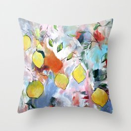 When Life Gives You Lemons, Paint Them Throw Pillow