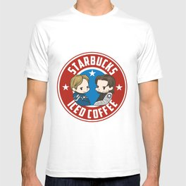 Starbucks - Steve Rogers and Bucky Barnes Iced Coffee  T-shirt