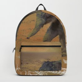 Cute Baby Elephant Backpack