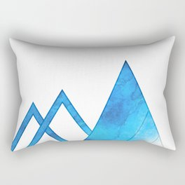 On The Edge Of The Mountains Rectangular Pillow