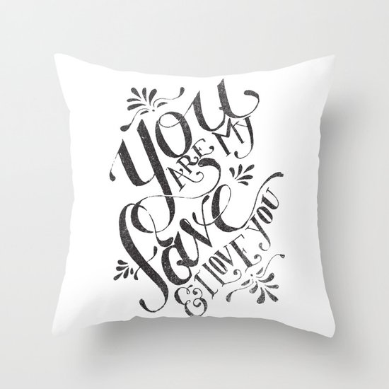 YOU ARE MY FAVE... Throw Pillow