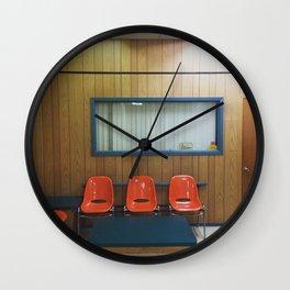LAUNDROMAT SEATING Wall Clock