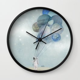Space Walk Wall Clock