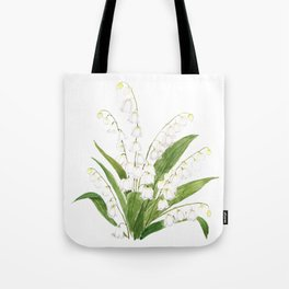 white lily of valley Tote Bag