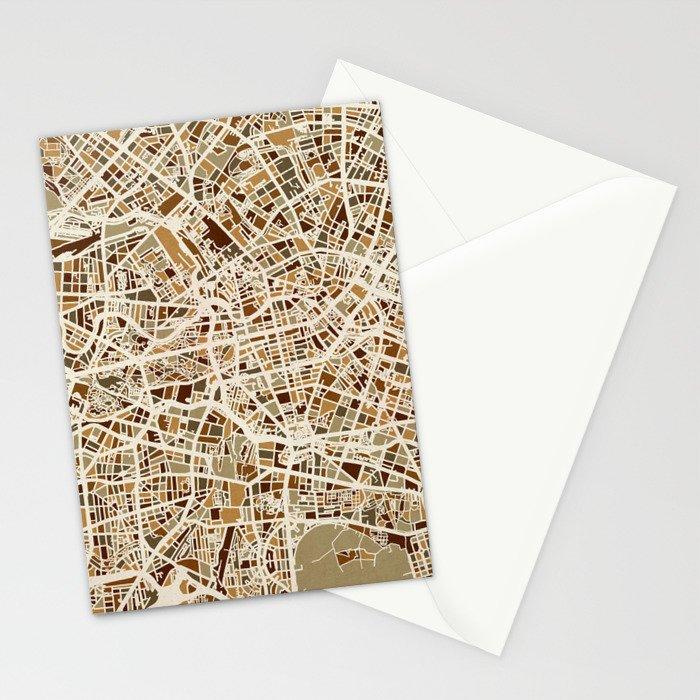 Berlin Germany Street Map Stationery Cards