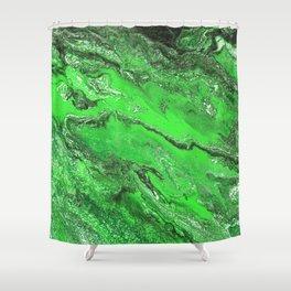Emerald Fire Shower Curtain