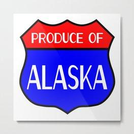 Produce Of Alaska Metal Print