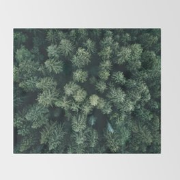 Forest from above - Landscape Photography Throw Blanket