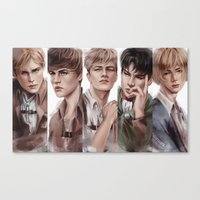 snk Canvas Prints featuring SnK Boys by emametlo